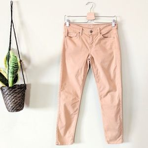 7FAM Tan The Cropped Skinny Jean Size 27
